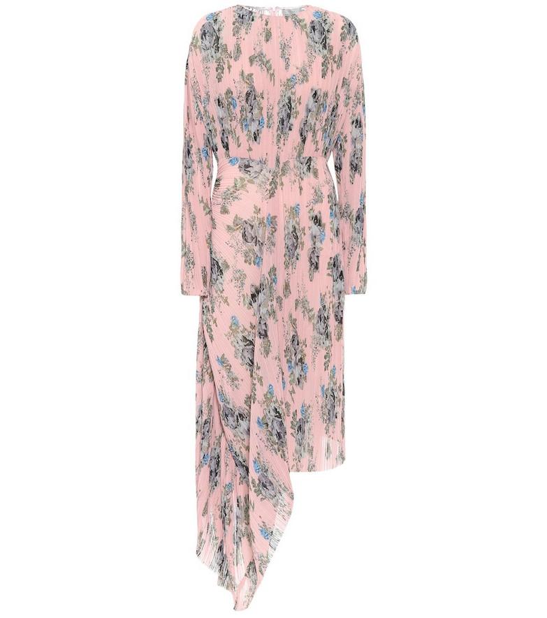 Preen by Thornton Bregazzi Delaney floral georgette midi dress in pink