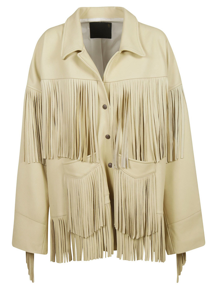 R13 Fringed Jacket in yellow