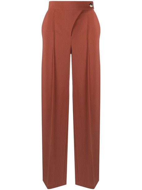 Aeron high-rise tailored trousers in brown