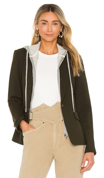 Central Park West Fanning Dickie Blazer in Army in green
