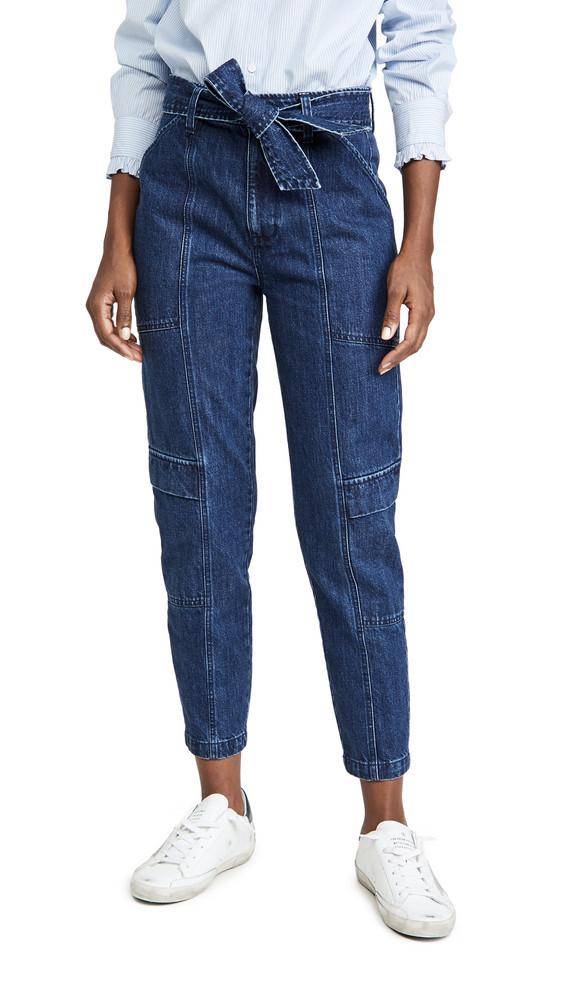 J Brand Athena Utility Waist Tie Pants in blue