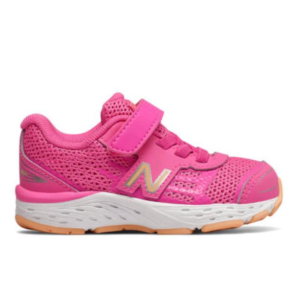 New Balance 680v5 Kids' Infant and Toddler Running Shoes - Pink/Orange (IA680MP)