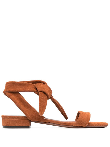 L'Autre Chose strappy suede sandals in brown
