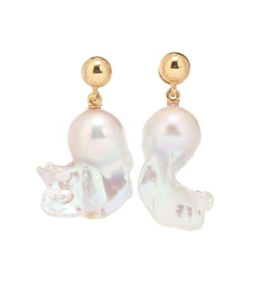 Oscar de la Renta Freshwater pearl drop earrings in white