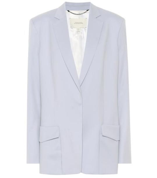 Dorothee Schumacher Ambition stretch wool blazer in blue