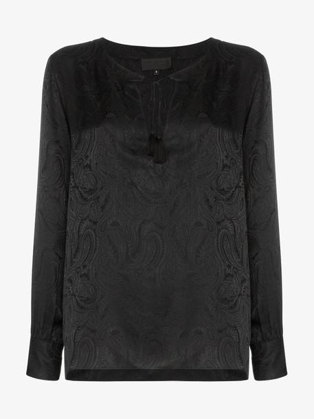 Nili Lotan Lucena paisley print silk blouse