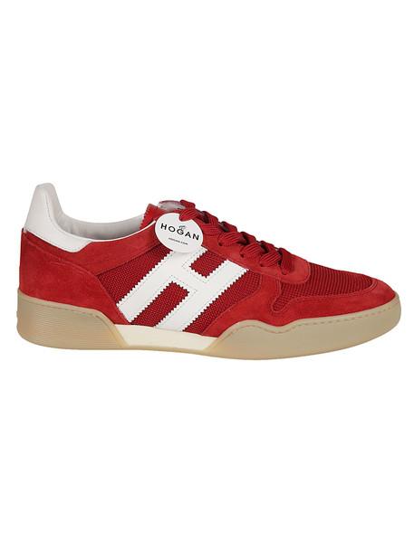 Hogan H357 Sporty Sneakers in bianco