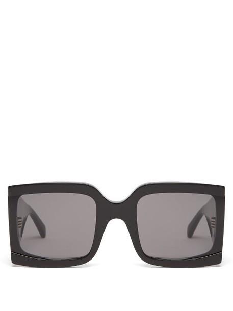 Celine Eyewear - Wide Arm Square Acetate Sunglasses - Womens - Black