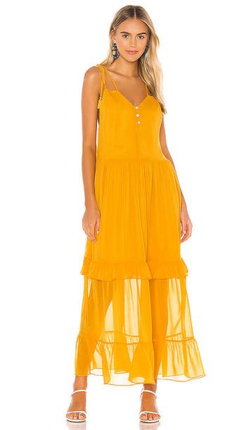 Tularosa Lorelei Dress in Mustard