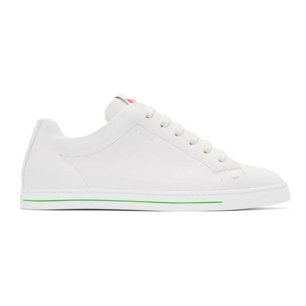 Fendi White Bag Bugs Sneakers