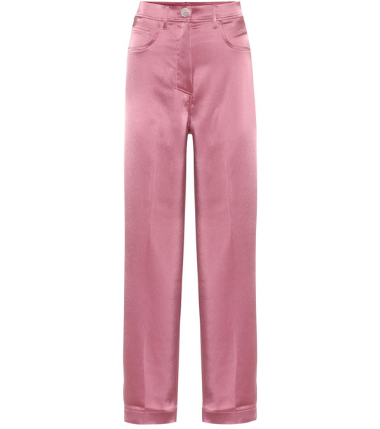 Nanushka Marfa high-rise wide-leg pants in pink