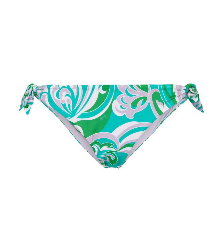 Emilio Pucci Beach Printed bikini bottoms in green