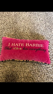 home accessory,pink,fluffy,barbie,pillow