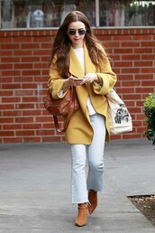 jeans,lily collins,celebrity,streetstyle,denim