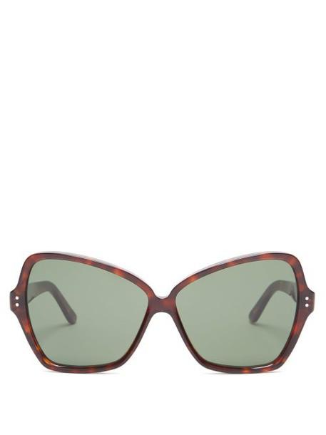 Celine Eyewear - Butterfly Cat Eye Acetate Sunglasses - Womens - Red Multi
