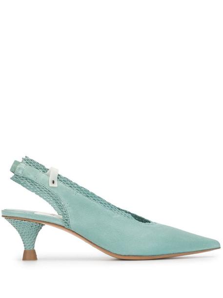 Premiata slingback low heel pumps in blue
