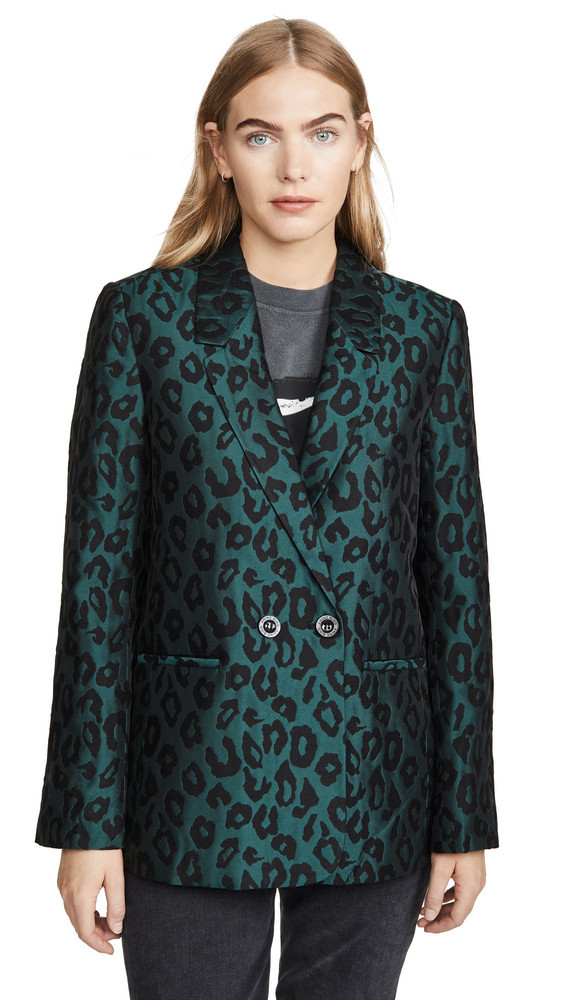 ANINE BING Madeline Blazer in leopard