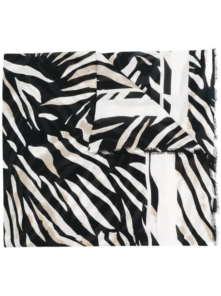 Etro zebra print scarf in neutrals