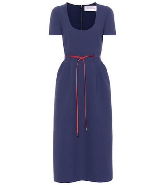 Valentino Virgin wool midi dress in blue
