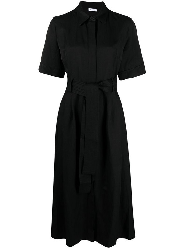 P.A.R.O.S.H. short-sleeved shirt dress in black