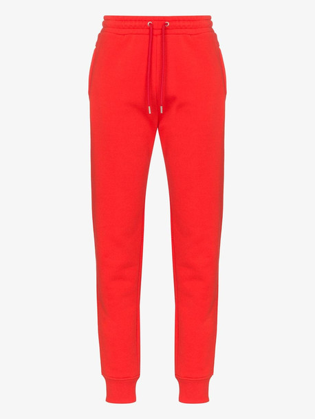 Paco Rabanne cotton jogging trousers in red