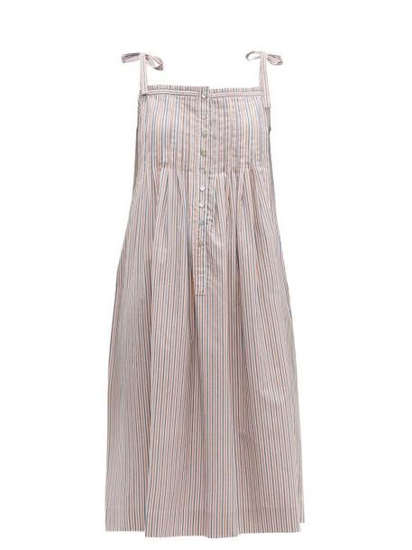 Loup Charmant - Kapari Striped Cotton Poplin Dress - Womens - White Multi