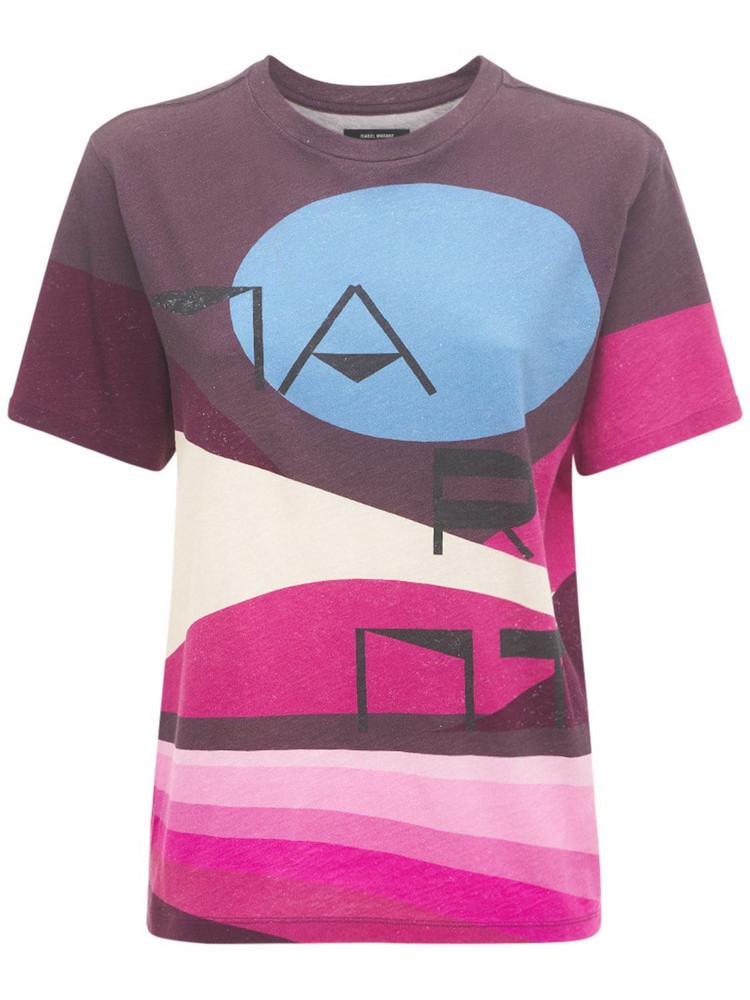 ISABEL MARANT Zewel Logo Cotton Jersey T-shirt in purple