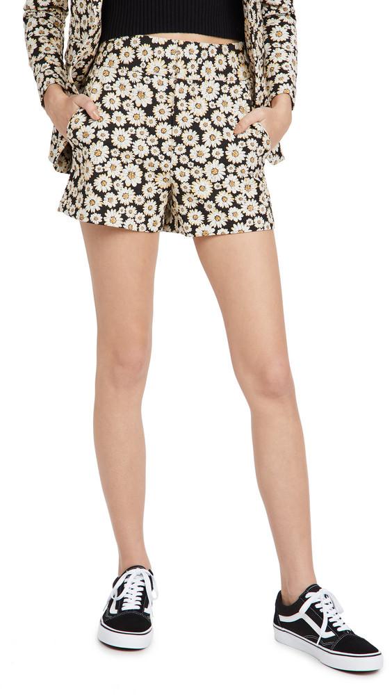 alice + olivia alice + olivia Cady Clean Shorts in black / multi