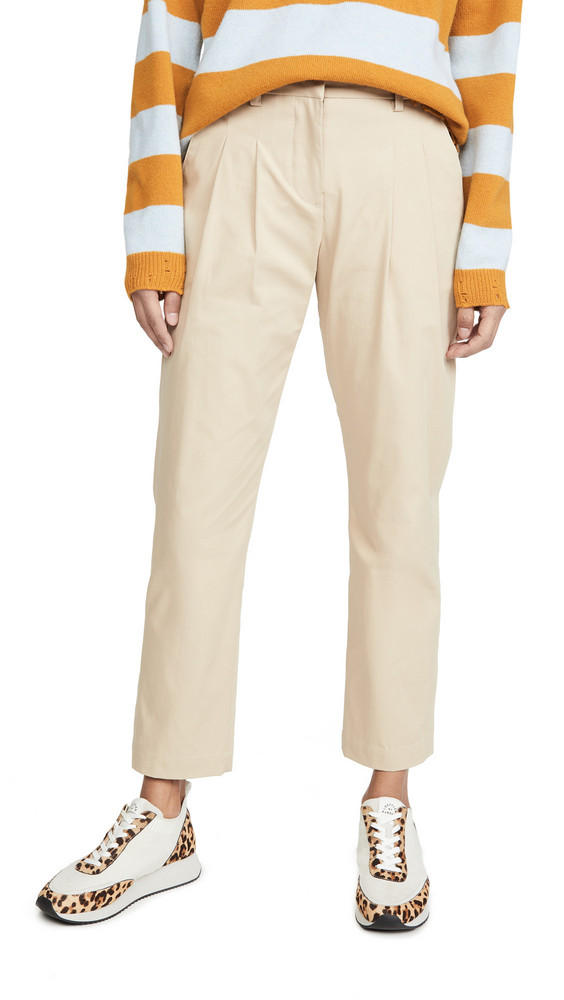 ei8htdreams Christy Pleated Tapered Pants in beige