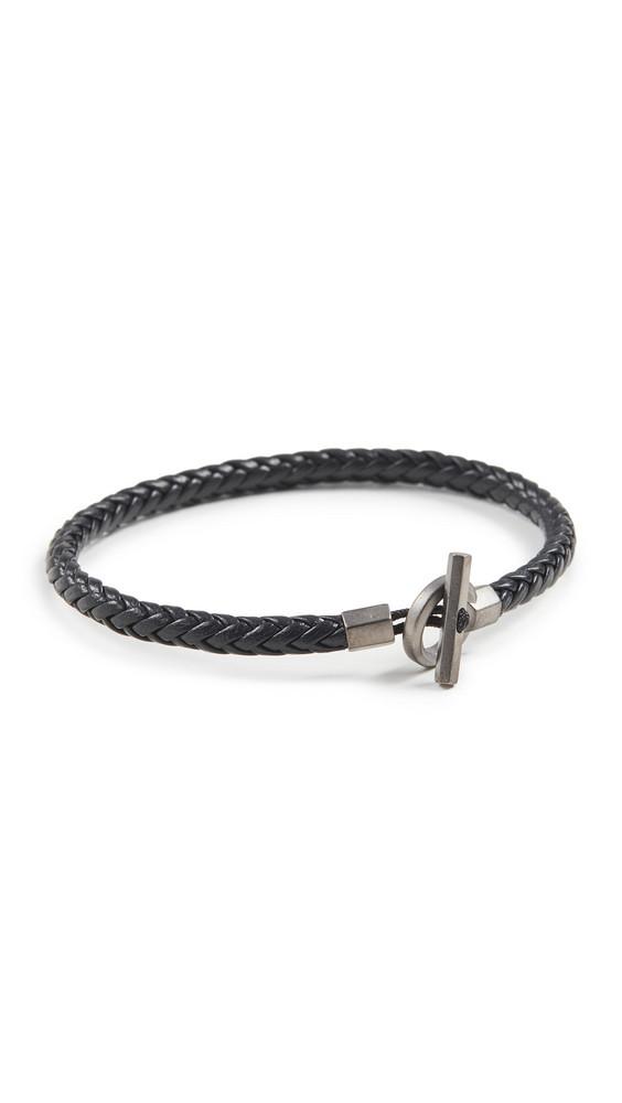 Miansai Atlas Leather Bracelet in black