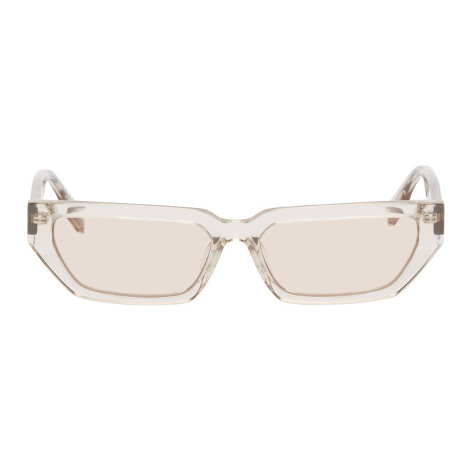 MCQ Pink Straight Top Cat Eye Sunglasses in transparent