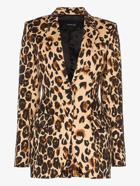 Mugler Leopard print blazer