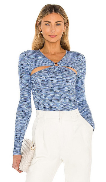 Song of Style Raegan Sweater in Blue in multi