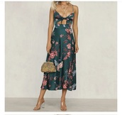 dress,printed knotted maxi dress