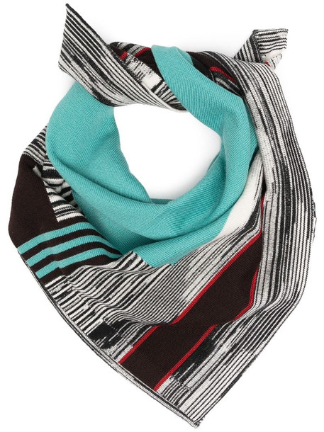 Missoni abstract print scarf in blue