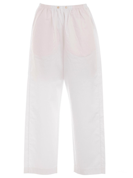 Forte Forte Elasticated Waist Trousers in bianco