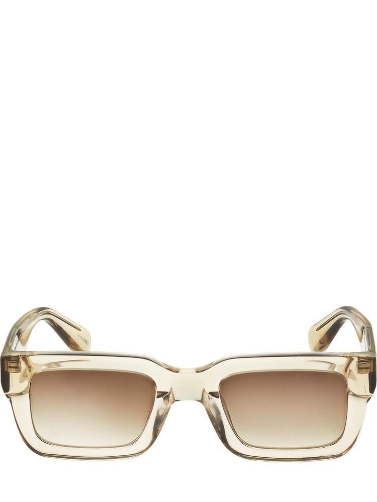 CHIMI 05 Squared Acetate Sunglasses in ecru