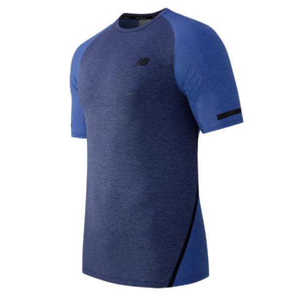 New Balance 61021 Men's Trinamic Short Sleeve Top - Blue (MT61021PFH)