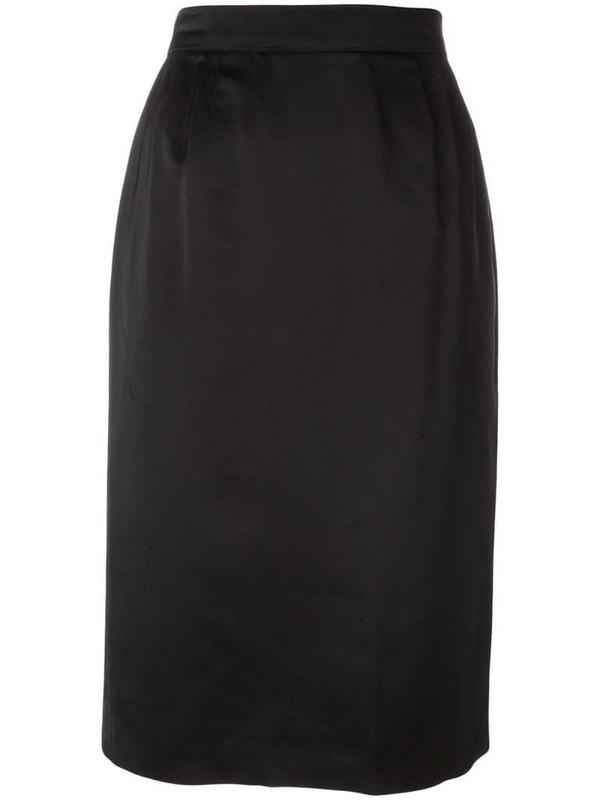 Yves Saint Laurent Pre-Owned classic pencil skirt in black