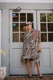hallie daily,blogger,coat,dress,shoes,bag,sunglasses