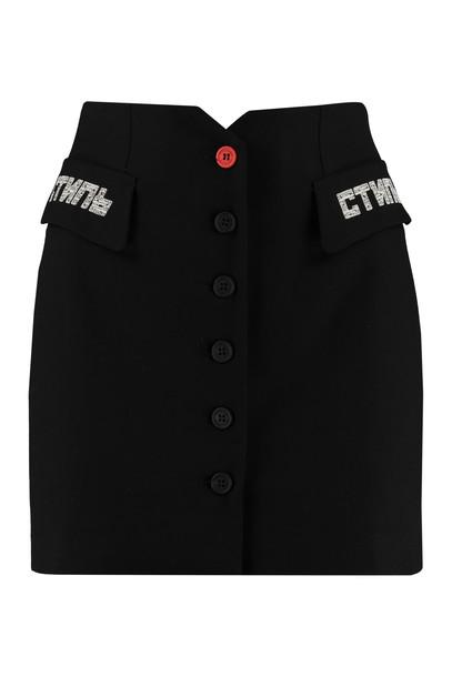 HERON PRESTON Tailored Mini Skirt in black
