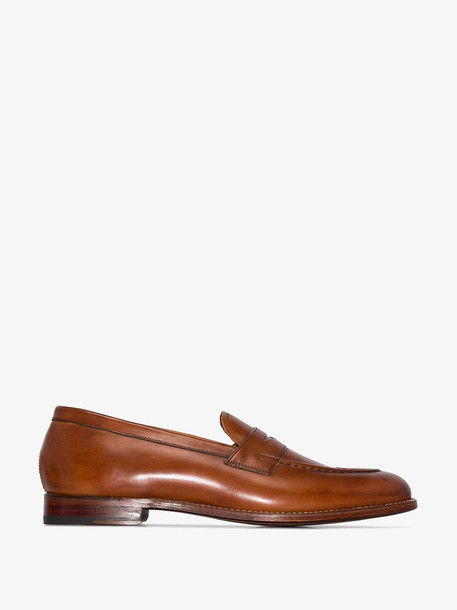 Grenson Brown Lloyd leather loafers