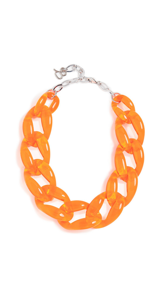 Diana Broussard Nathan Medium Link Chain Necklace in orange