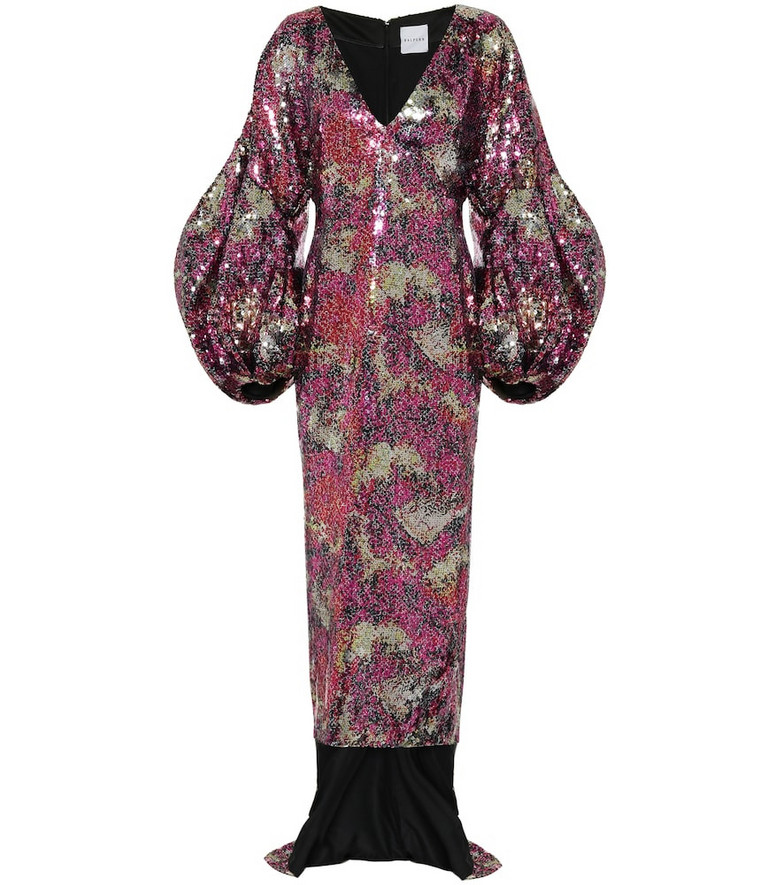 Halpern Sequined gown in pink