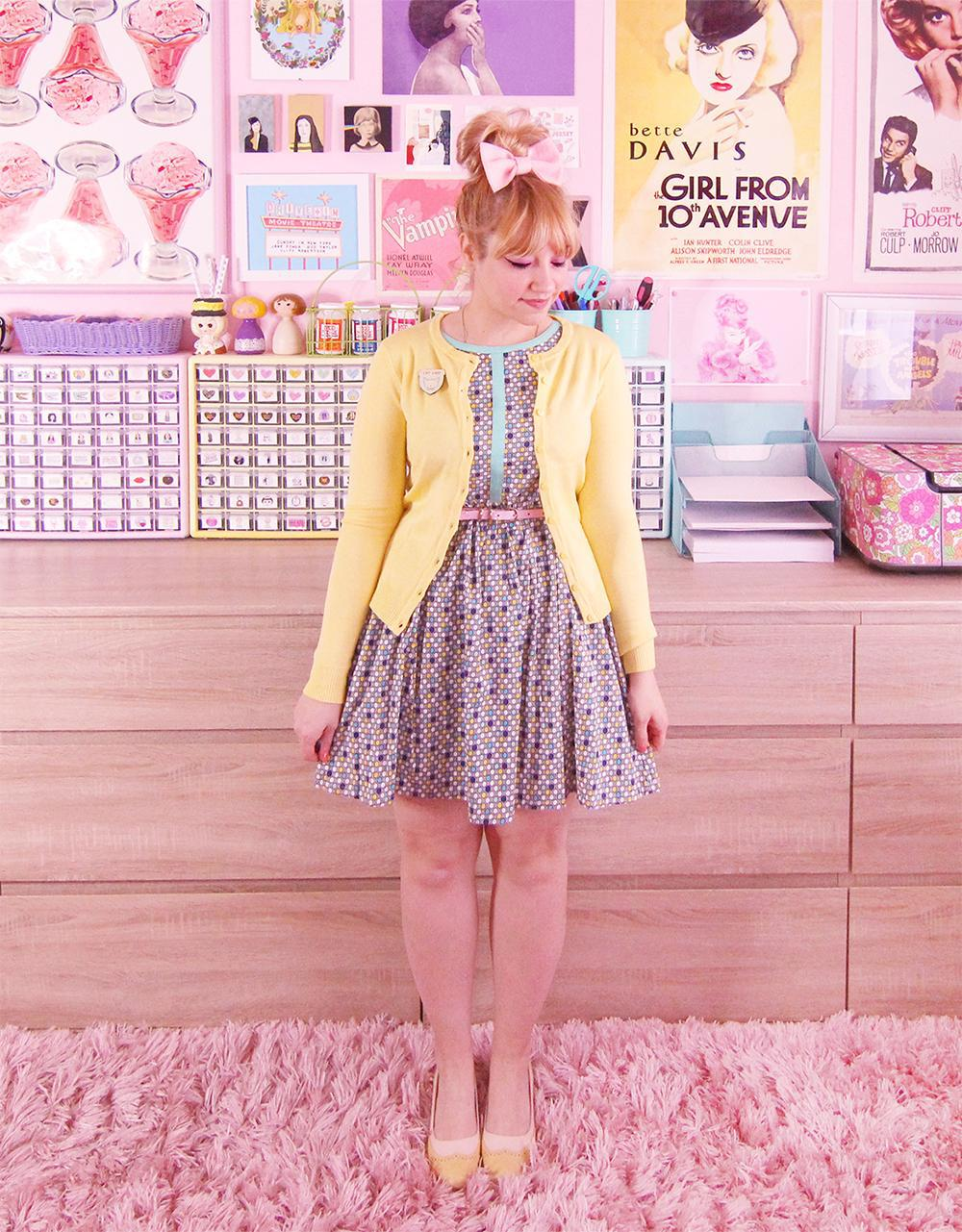 scathingly brilliant blogger dress sweater shoes cardigan yellow cardigan