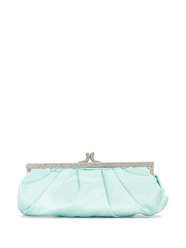 Valentino Pre-Owned rhinestone-embellished clutch bag in blue