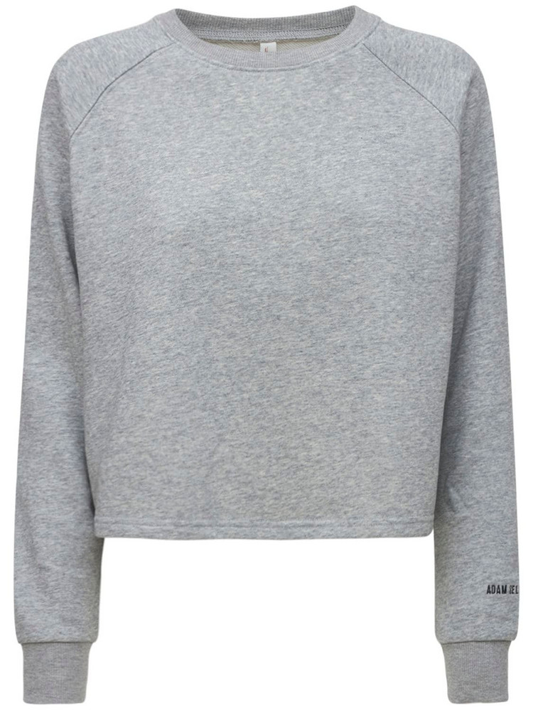 ADAM SELMAN SPORT Boxy Sweatshirt in grey