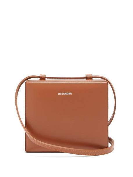 Jil Sander - Case Mini Leather Cross Body Bag - Womens - Brown