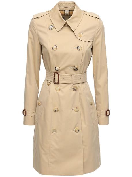 BURBERRY Mid-length Chelsea Heritage Trench Coat in beige