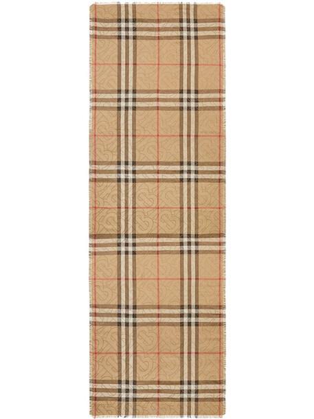 Burberry monogram-print Vintage Check scarf - Neutrals